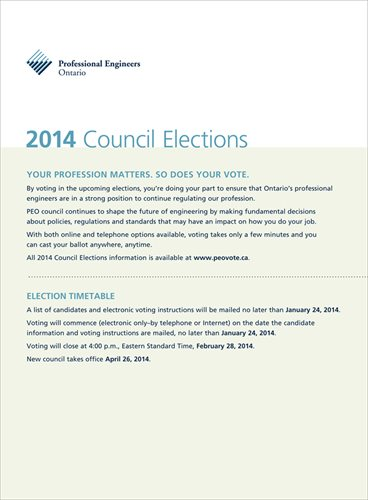 2014 PEO Council Election