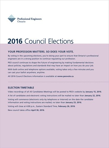 2016 PEO Council Election