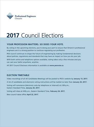 2017 PEO Council Elections