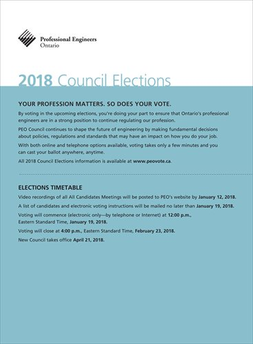 2018 PEO Council Elections