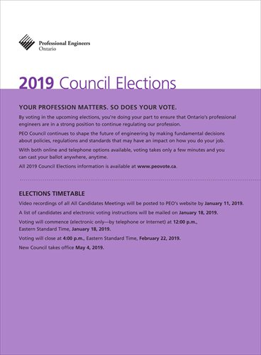 2019 PEO Council Elections