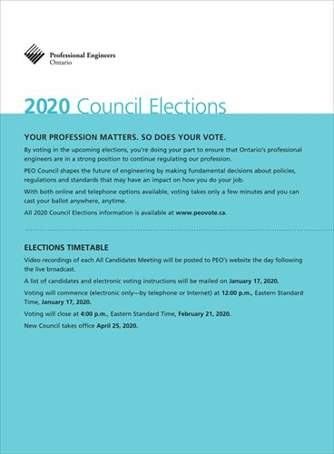2020 PEO Council Elections