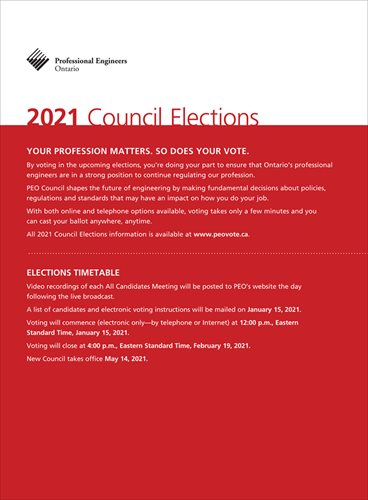 2021 PEO Council Elections