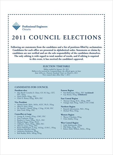 2011 PEO Council Elections