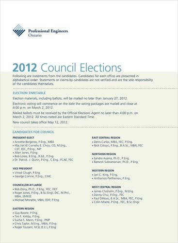 2012 PEO Council Elections