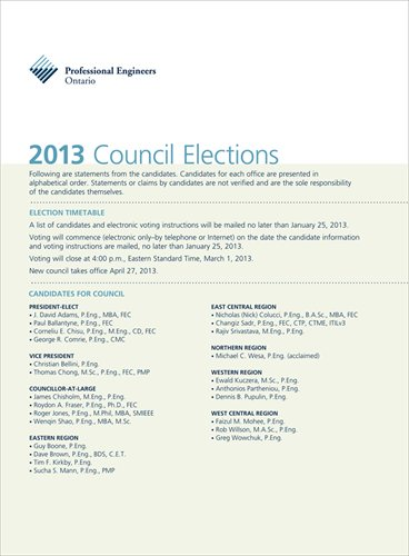2013 Council Elections